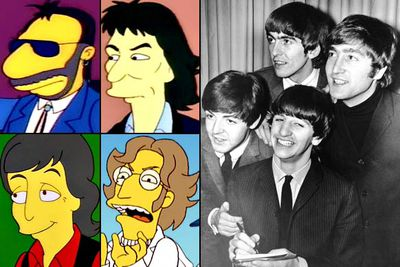"<B>Appeared in:</B> Ringo Starr went first in 'Brush with Greatness' (1991); George Harrison was next in 'Homer's Barbershop Quartet' (1993); and Paul McCartney appeared alongside his wife Linda in 'Lisa the Vegetarian' (1997). Having inconveniently died sometime before the series premiered, John Lennon obviously never lent his voice to the show, but his likeness showed up in 'Treehouse of Horror XIX' (2008).<br/><br/><B>Best line:</B> [After Homer is more impressed with George's chocolate brownie than with meeting George himself] ""What a nice fella."""