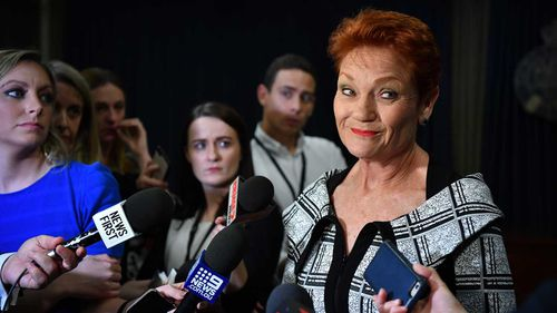 Pauline Hanson has taken a swing at Clive Palmer.