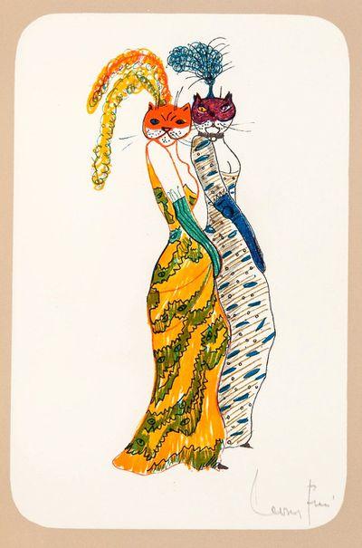 La Grande Parade des Chats, Leonor Fini (1973)