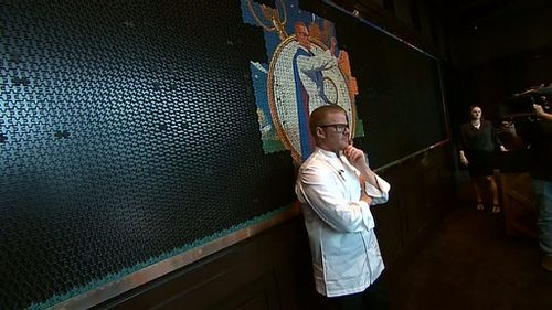 Heston Blumenthal at the new Fat Duck in Melbourne. (9NEWS)