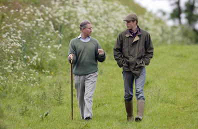Prince William visits Duchy home farm with Prince Charles