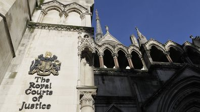 A view of the Royal Courts Of Justice, in London, Tuesday, Jan. 19, 2021