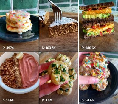 The TikTok food blogger's page is popular for it's 'alternative' recipes.