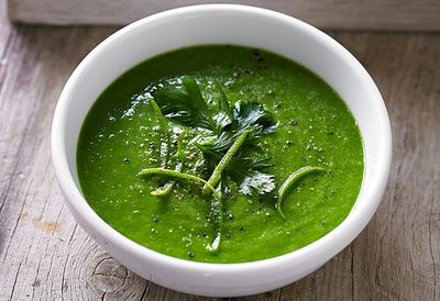 Kale and avocado soup