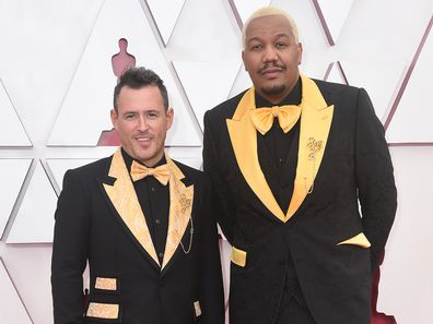 9.20am Travon Free's yellow suit hides special message  Travon Free had something to say on the Oscars red carpet about police brutality. The writer and performer wore a Dolce & Gabbana yellow suit which featured the names of people killed by police violence.