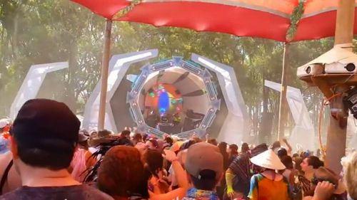 "Earthcore is a music festival that also features the subculture of ""bush doof"" created by Mr Boursinos."