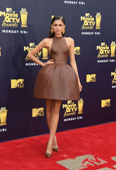 Singer and actress Zendaya in August Getty Atelier at the 2018 Movie and TV Awards