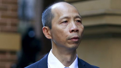 Robert Xie arriving at King Street court for his murder trial on June 29, 2016.
