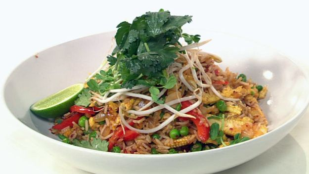 Vegetable fried rice, ginger and soya bean