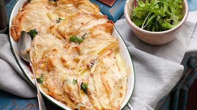 "Recipe:<a href=""http://kitchen.nine.com.au/2016/05/16/15/33/creamy-broccoli-and-ham-crepes"" target=""_top"">Creamy broccoli and ham crepes</a>"