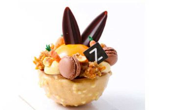"""Adriano Zumbo's <a href=""""http://zumbo.com.au/product/down-the-rabbit-hole-ind/"""" target=""""_top"""" draggable=""""false"""">down the rabbit hole cake</a> might come in a full size ($42), but we love these individual portions. A little mouthful of fun, filled with carrot cake, lychee gel, cream cheese mousse and more, and finished with mini macarons.<br /> <br /> RRP - $9.50"""
