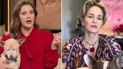 Drew Barrymore interviews Sharon Stone on her new show