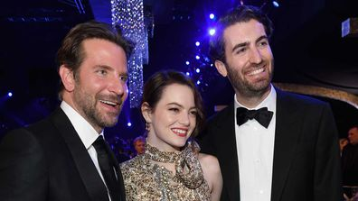Bradley Cooper, Emma Stone and Dave McCary attend the Screen Actors Guild Awards.