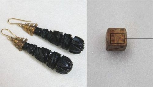 Earring and at least 20 dice were found at 13 Swanston Street, where a hotel used to operate.