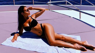 Georgina Rodriguez sunbathing in her bikini