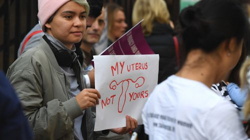 The new laws make it illegal to communicate, film or intimidate a woman near a NSW abortion clinic have been passed by the state's parliament. (AAP)