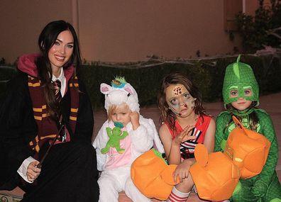 Megan Fox and her three children Noah, Bodhi, and Journey.