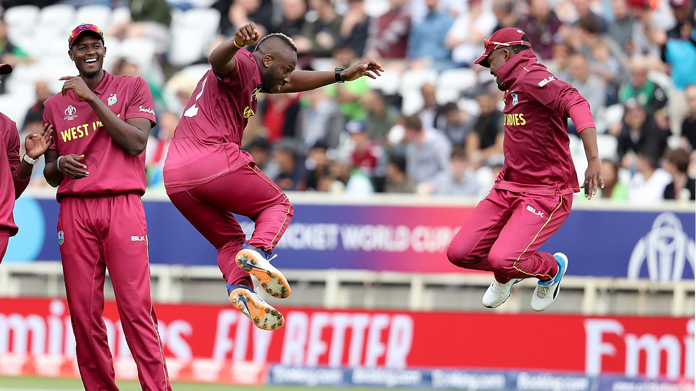 West Indies' bowler Andre Russell