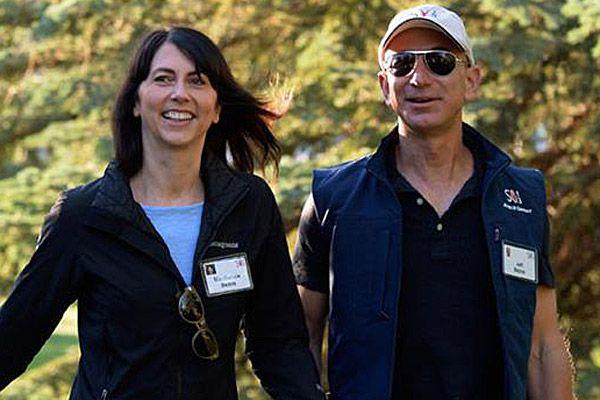 MacKenzie and Jeff Bezos