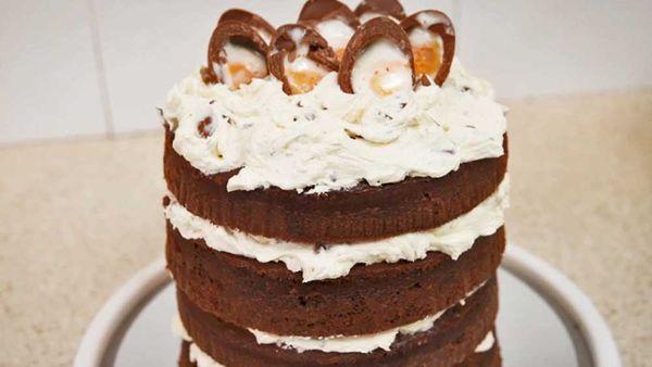 Cadbury Creme Egg cake