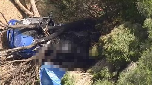 UPDATE: Two dead in fiery Melbourne freeway crash