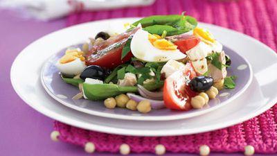 "Recipe: <a href=""http://kitchen.nine.com.au/2016/05/13/11/03/tuna-and-egg-salad"" target=""_top"">Tuna and egg salad</a>"