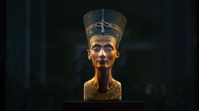 """A wife of Tutankhamun's father Akhenaten, Nefertiti played a major political and religious role in the 14th century BC, and the discovery of her tomb would be a major prize for Egyptologists.<br /><br />Experts are now """"approximately 90 percent"""" sure there is a hidden chamber in Tutankhamun's tomb, Antiquities Minister Mamduh al-Damati told a news conference."""