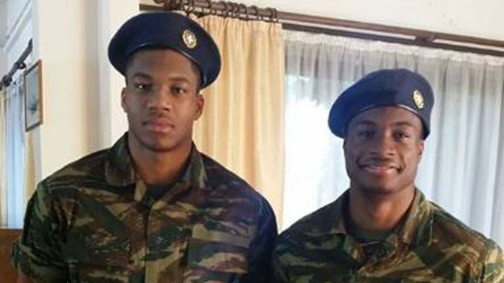Brothers Giannis and Thanasis Antetokounmpo start their military service (Twitter)
