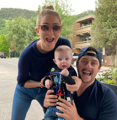 Whitney Wolfe Herd and husband daughter