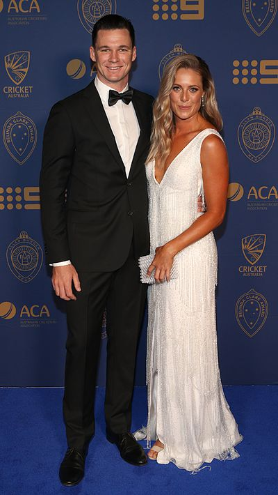 "Peter Handscomb and his partner Sarah Ray.<span style=""white-space:pre;"">	</span>"