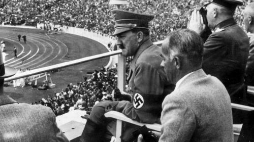 Adolf Hitler at the 1936 Olympic Games.