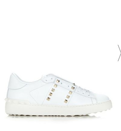 "The polished metal rock studs make these fancy trainers a sleek option for the office, while still being cool enough to dress up off-duty wear. They'll pair with a pleated midi skirt or cropped pant suit for corporate wear, and easily transform a simple t-shirt and jeans on weekends. <br> <br> Valentino Rockstud low-top leather trainers, $1,020. <a href=""http://www.matchesfashion.com/au/products/Valentino-Rockstud-Untitled-%2311-low-top-leather-trainers--1056915"" target=""_blank"">Matchesfashion.com</a><br>"
