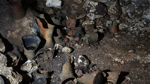 More than 150 different objects including incense burners, plates and bowls were discovered.