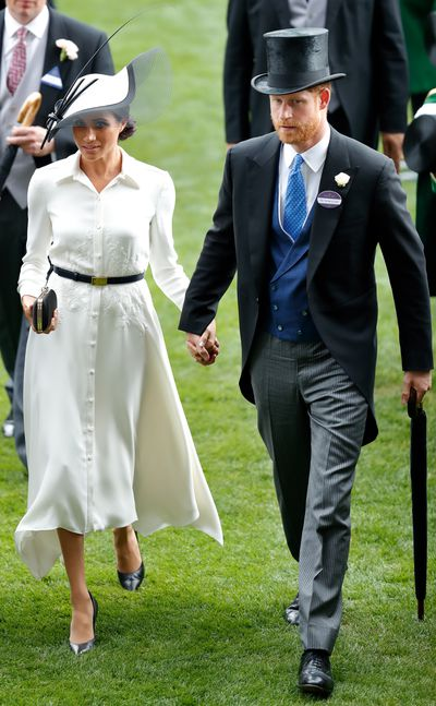 Duchess of Sussex Meghan Markle in Givenchy at Royal Ascot Day 1 at Ascot Racecourse in Ascot, England, June, 2018