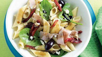 "Recipe: <a href=""http://kitchen.nine.com.au/2016/05/13/11/02/warm-pasta-salad"" target=""_top"">Warm pasta salad</a>"