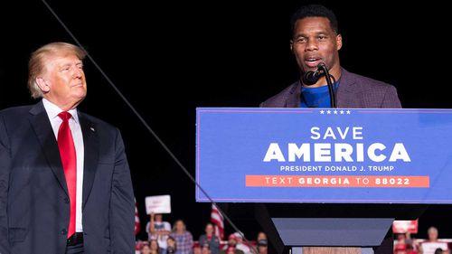 Herschel Walker is a former football star embraced by Donald Trump.