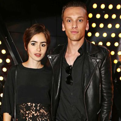 Lily Collins and Jamie Campbell Bower attend the launch of W London - Leicester Square's Britpop Vinyl Collection