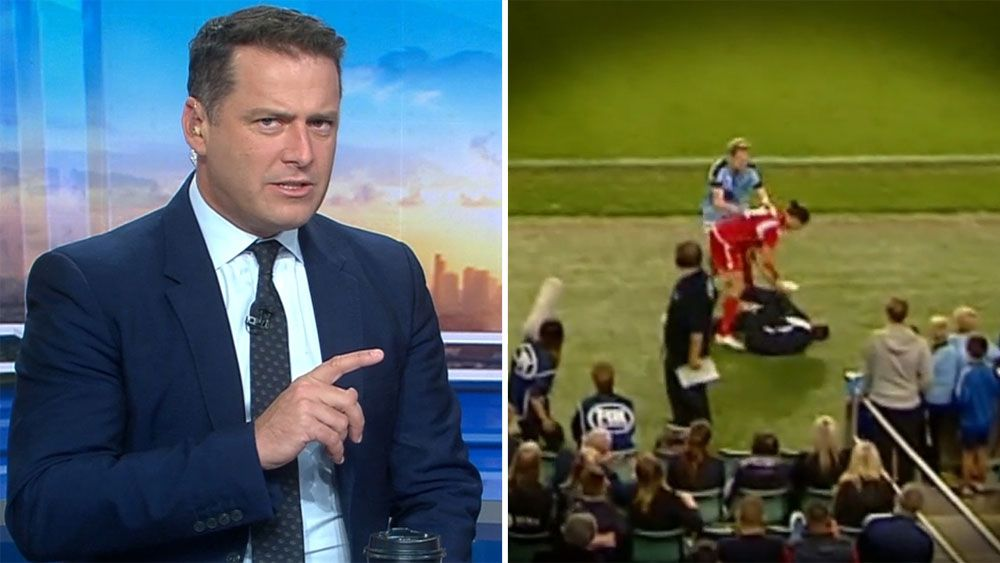 Ball boy sparks brawl that mars Australian football cup final