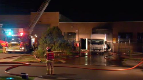 Firefighters at the scene in Thomstown overnight.
