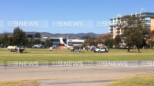 Light plane forced to make emergency landing in middle of Adelaide racecourse