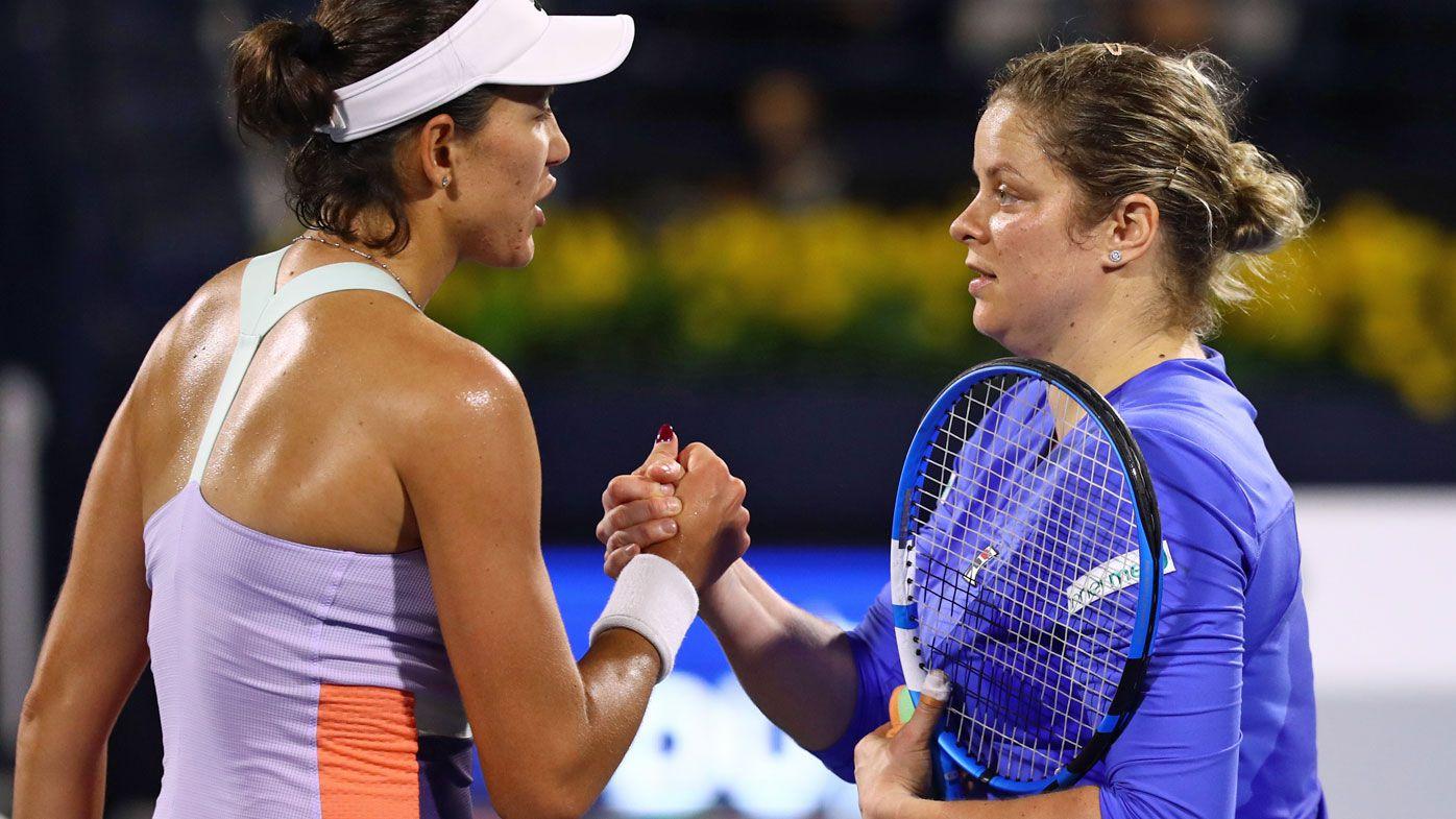 Kim Clijsters makes 'world-class' tennis return at 36 in hard-fought loss to Garbine Muguruza