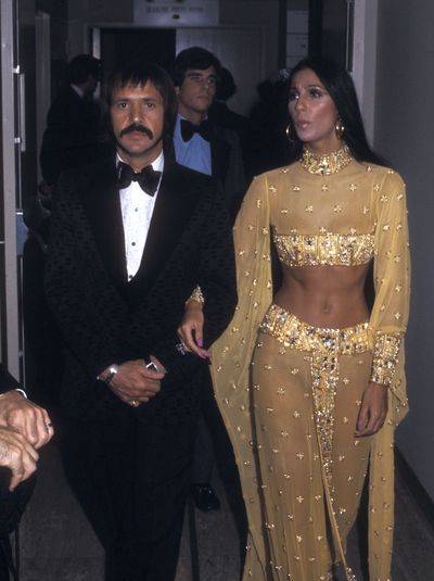 Sonny and Cher at the 45th Annual Academy Awards in Los Angeles, March, 1973