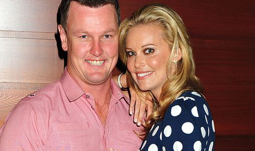 Anthony Bell and Kelly Landry in happier times. (AAP)