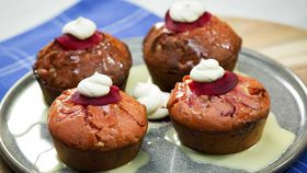 Family Food Fight: The Panayides' beetroot and white chocolate muffins