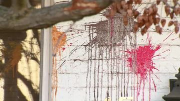 Lord Mayor Robert Doyle's home vandalised with paint-bombs