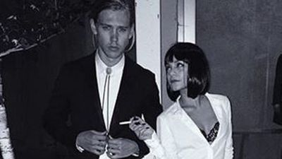 Vanessa Hudgens and boyfriend Austin Butler went for a couples costume this year, celebrating Halloween as Pulp Fiction's Mia Wallace and Vincent Vega. (Instagram: @vanessahudgens)