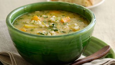 "Recipe: <a href=""http://kitchen.nine.com.au/2016/05/19/14/28/hearty-chicken-and-barley-soup"" target=""_top"">Hearty chicken and barley soup</a>"