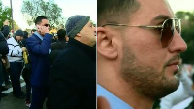Former deputy mayor of the Auburn City Council, Salim Mehajer, was also in attendance. (9NEWS)