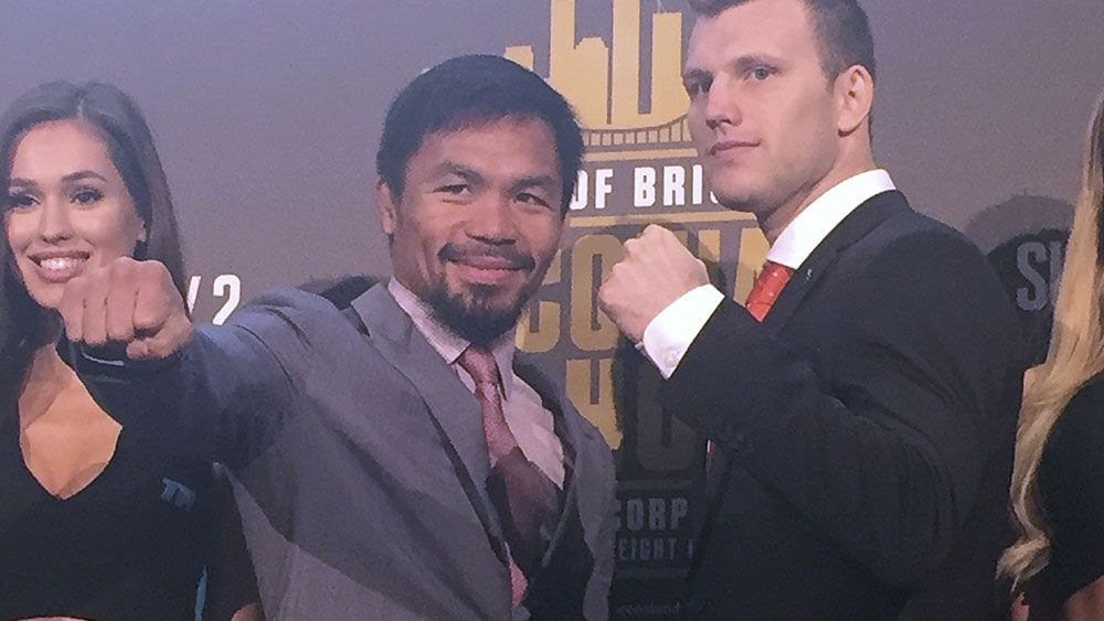 Manny Pacquiao will take on Jeff Horn in Brisbane on Sunday. (AAP)