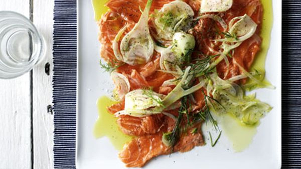 Ocean trout carpaccio with fennel